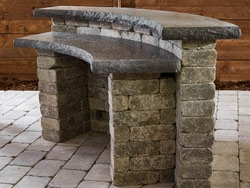 Kitchen Kits: Quarry Stone Curved Bar