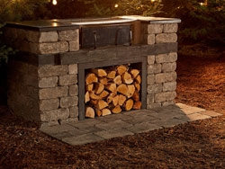 Kitchen Kits: Quarry Stone Wood Grill